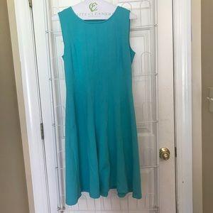 Teal blue dress!